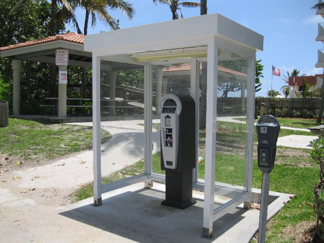 aluminum pay station shelter