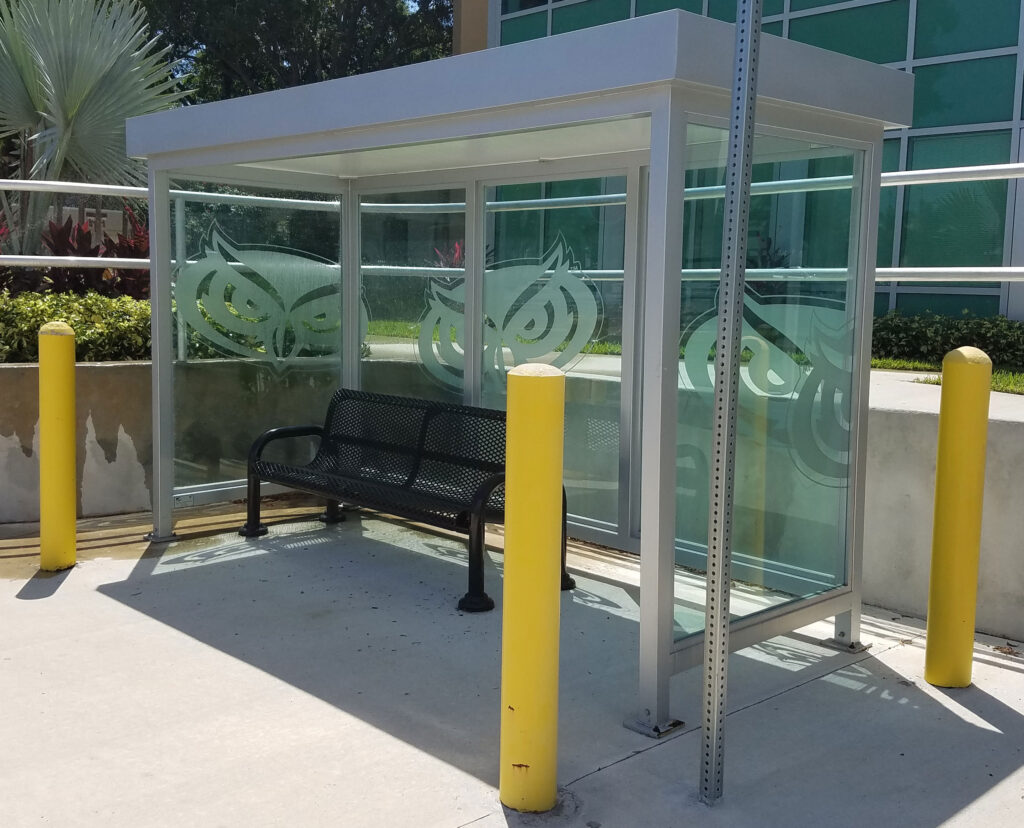 aluminum transit shelter