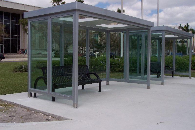aluminum bus shelters